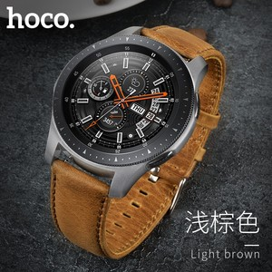 Image 1 - Original HOCO Brown Cowhide Watch Band for Samsung Galaxy Watch 42mm/46mm Genuine Leather Strap Retro Replacement Wristband