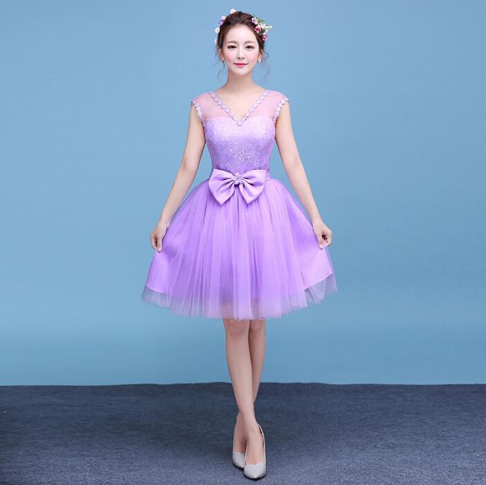 Lavanda púrpura adolescente criada de las novias vestido de dama de ...