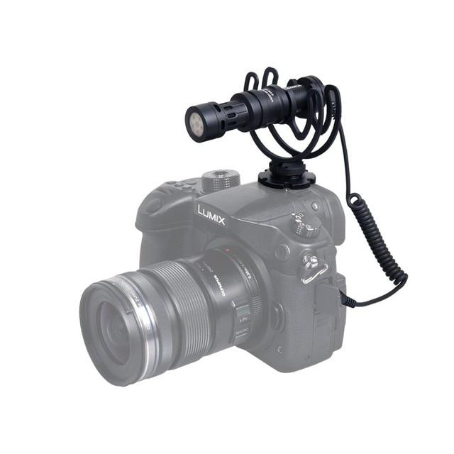 Металл Видео Компактный На Камере Записи Микрофон, Lumix Rode для Телефона GoPro DSLR Canon Nikon Sony A7 A7RII, A7SII/GH4 GH5