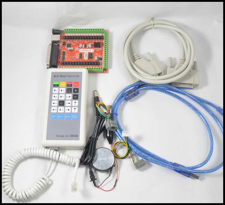 Avec un USB extension 6 axe parallèle MACH3 carte d'interface CNC Contrôleur