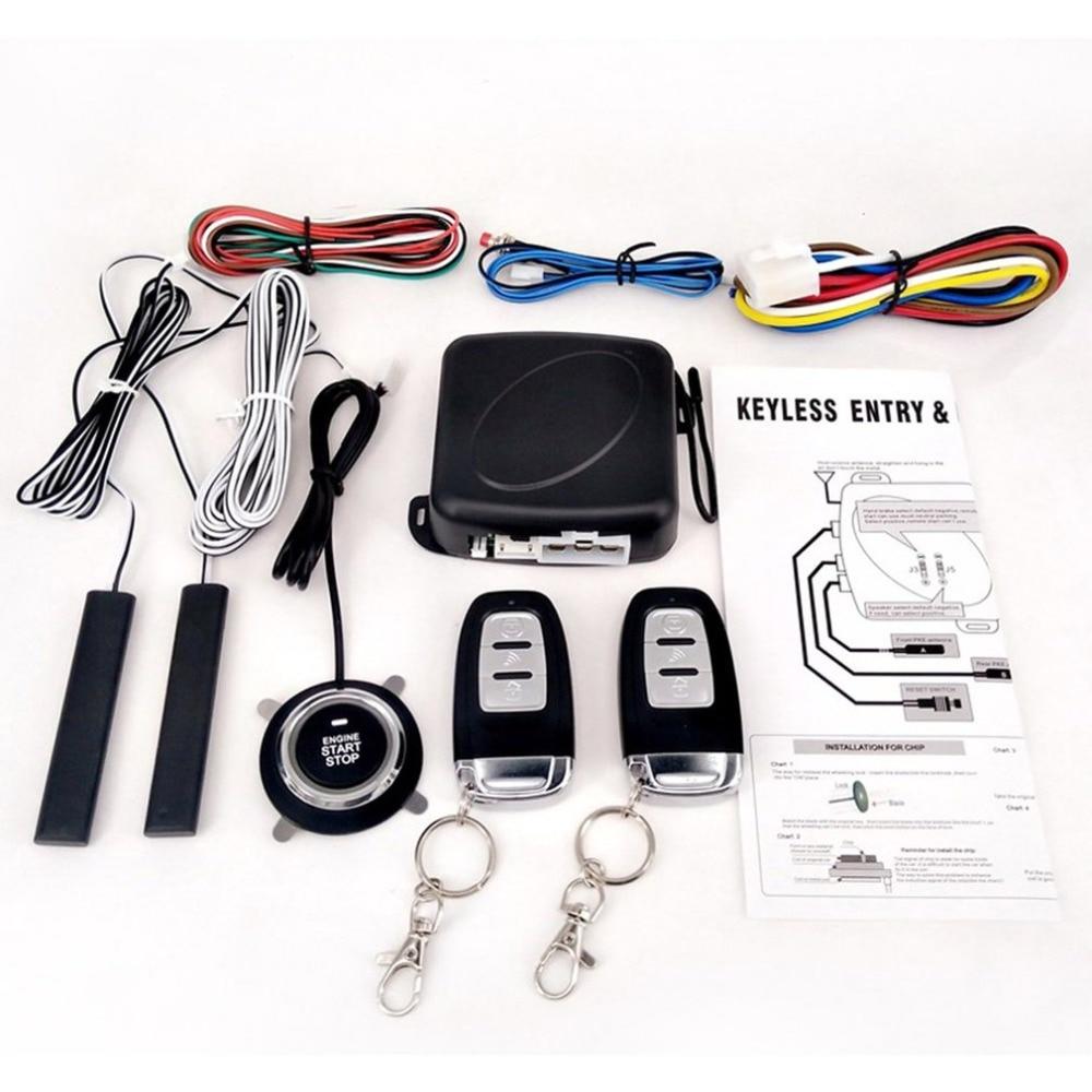 Système D'entrée Sans Clé Passive PKE starter pour moteur bouton-poussoir Véhicules Début/Arrêt Kit serrure de sécurité avec 2 clé intelligente Chaude