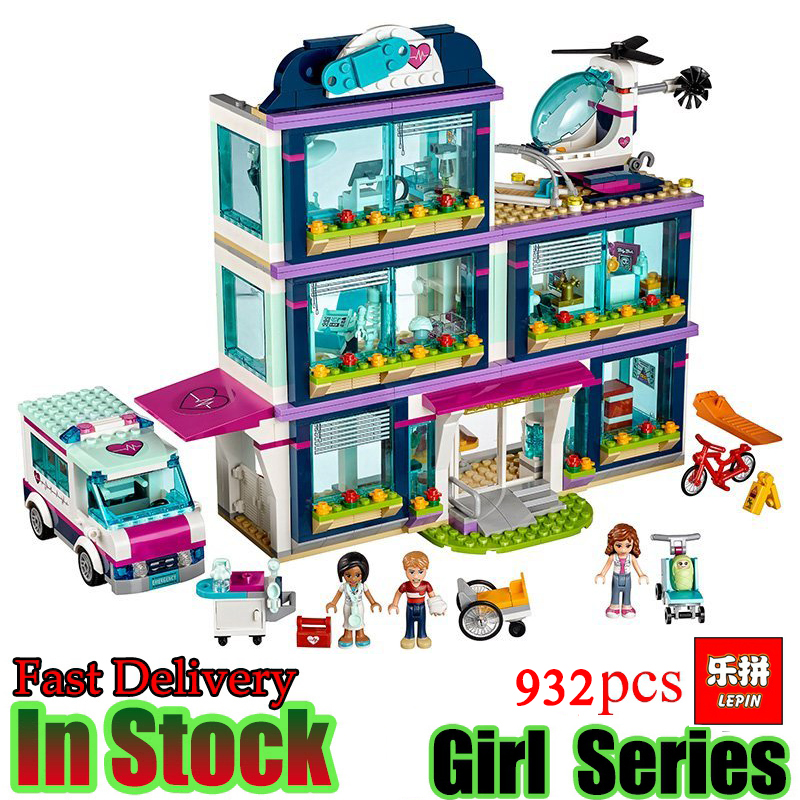 lepin 01039 friends building blocks Heartlake Hospital kids Bricks diy toy set Models girl gifts Compatible 41318 lepin 01039 friends girl series building blocks toys heartlake hospital kids bricks toy girl gifts compatible with legoing 41318