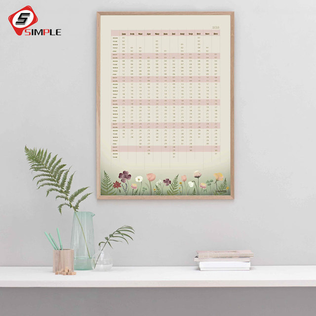 calendar with flowers posters and prints nordic kids caanvas