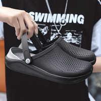 2019 hombres sandalias Crocks LiteRide agujero zapatos Crok goma zuecos para hombres EVA Unisex jardín Zapatos negro Crocse Adulto Cholas hombre
