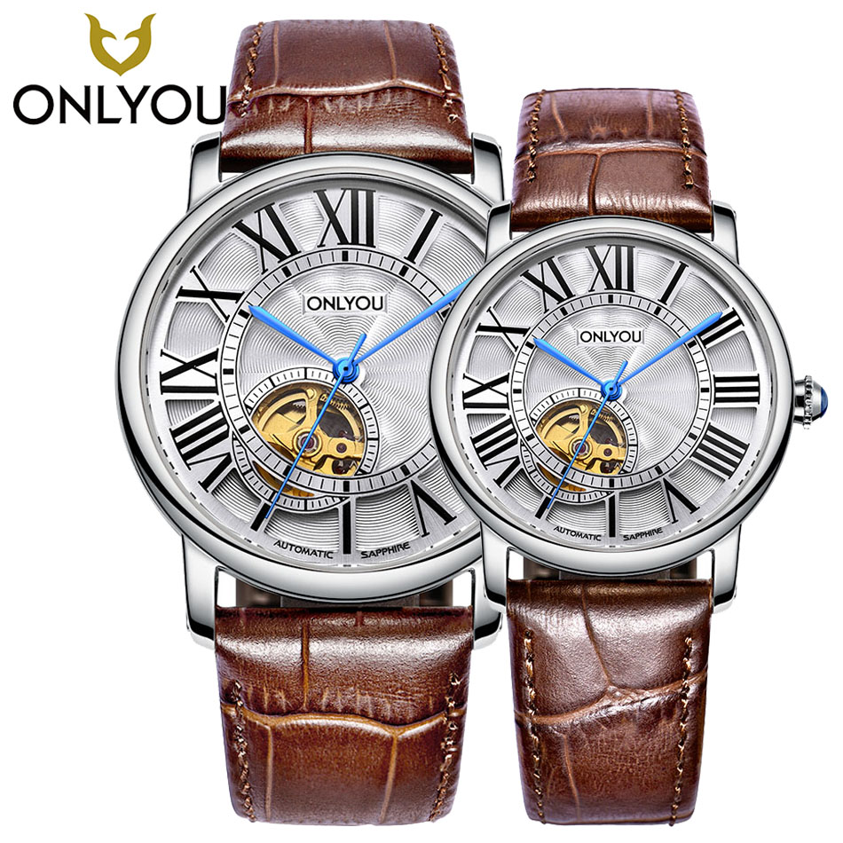 New Women Watches mechanical Fashion Leisure Ultra Thin Steel Full steel sapphire