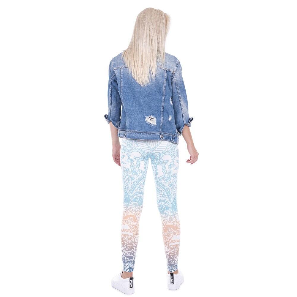Brand Hot Sales Leggings Mandala Mint Print Fitness -2628