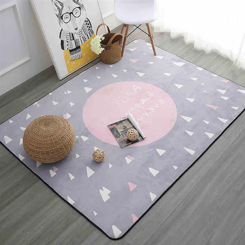 Tapis de sol élégant européen épaissi élégant tapis carré polyvalent tapis de porte d'entrée tapis de zone intérieure pour la maison