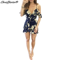 Floral Print 2017 Summer Dress Women Sexy Celebrity Party Sling Beach Dresses New Style Fashion V