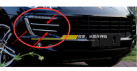 Free shipping 4pcs/lot Car stickers For Porsche Macan ABS chrome of car daytime running light fog light decoration cover sequins