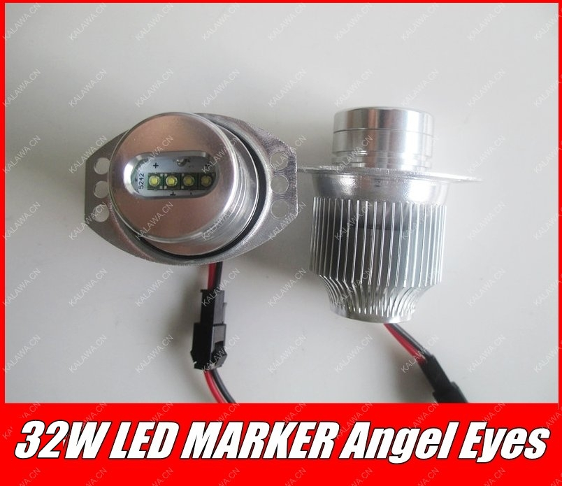 one pair 2*32W 64W CREE LED Marker Angel Eyes for B.M.W 3 Series E90 /E91 LCI Plug and Play No Error GGG FREESHIPPING