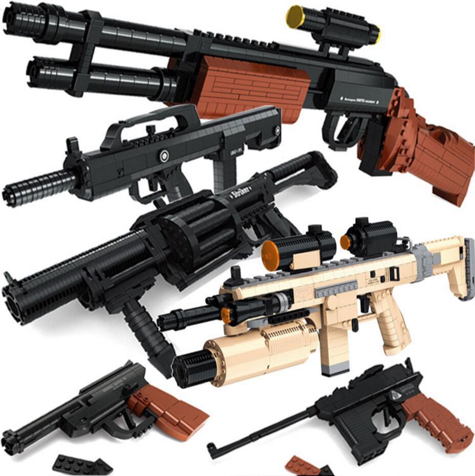 Ausini Gun Building Blocks Toy Set Pistol AK47 M16 Compatible With Major Brand Construction Toy