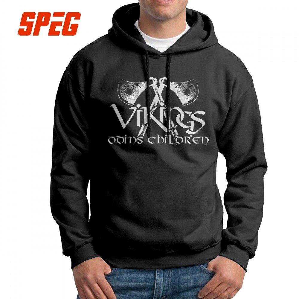 Vikings Odins Children Men's Sweatshirt Cool Pure Cotton Hoodies Comfortable Pullovers