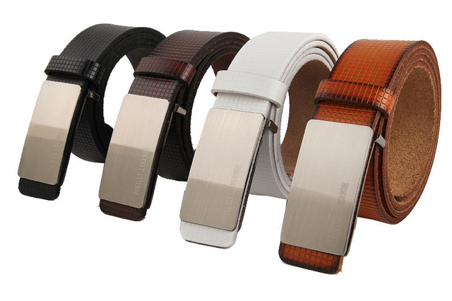 439c4ccd7 Classic men s leather belt men s casual boutique Ms. pure leather belt men  white belt