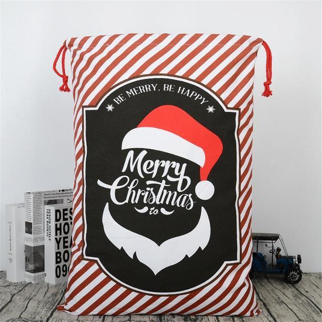 Christmas Candy Gift Bag Tree Pattern Santa Claus Candy Bag Handbag ...