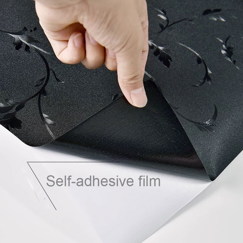 Image 5 - Black Opaque Window Film Glass Stickers sunscreen insulation Self adhesive Film kids room bedroom Home Decorative Film 70*200cm-in Decorative Films from Home & Garden