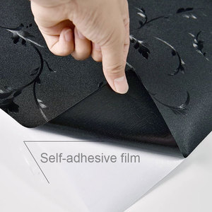 Image 5 - Black Opaque Window Film Glass Stickers sunscreen insulation Self adhesive Film kids room bedroom Home Decorative Film 70*200cm
