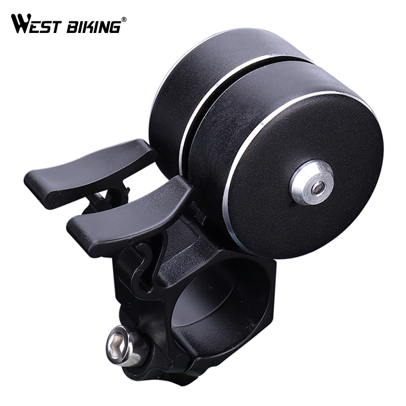 WEST BIKING Bicycle Bell Sound Resounding Outdoor Protective Bell Rings Bike Accessory Powerful Alarm MTB Bicycle Handlebar Bell west biking bicycle bell pure copper bike sound handlebar ring horn safety alarm bell timbre bicicleta accessories bicycle bell