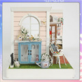 Z001 Doll House diy wooden dollhouse miniature room handmade model toys Toy Christmas and Birthday Gifts free shipping