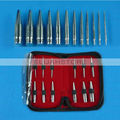 New Arrival 12pcs Body Piercing Tool Cone Kits for Ear Navel Nose Supply Free Shipping