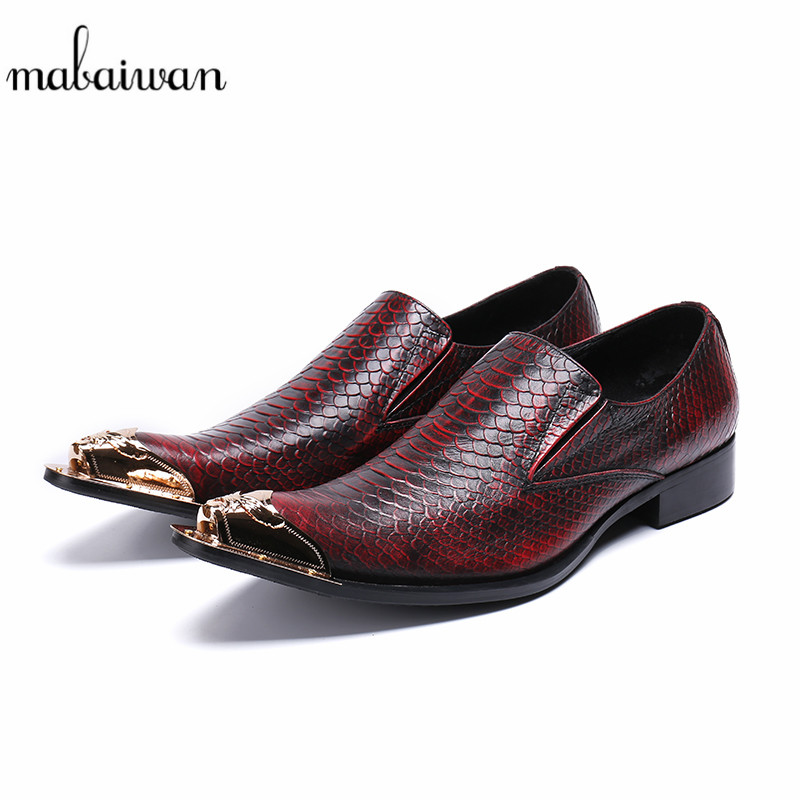 Mabaiwan Men Casual Shoes Crocodile Leather Loafers Handmade Design Slipper Dress Shoes Men Leisure Brand Breathable Party Flats 2017 new spring imported leather men s shoes white eather shoes breathable sneaker fashion men casual shoes