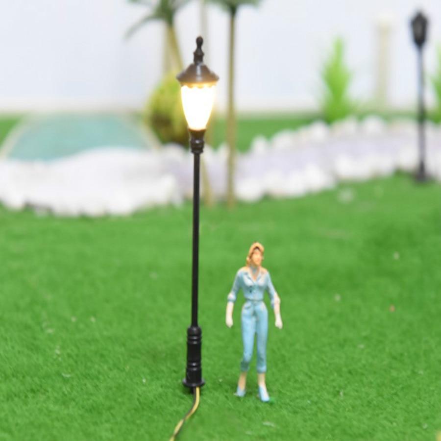 New 10pcs/lot Model Railway Train Lamp Post Street Lights HO Scale 1:100  LED For Voltages Of 3V