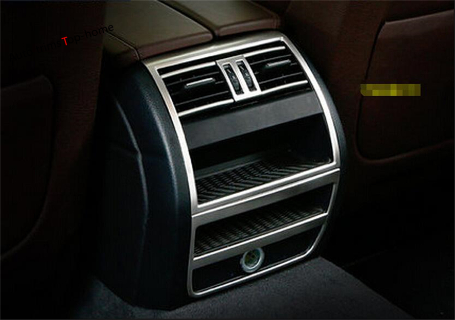 Pour BMW série 5 520i 525i 530i F10 F18 en acier inoxydable accoudoir arrière boîte climatisation AC sortie évent couverture autocollants garniture
