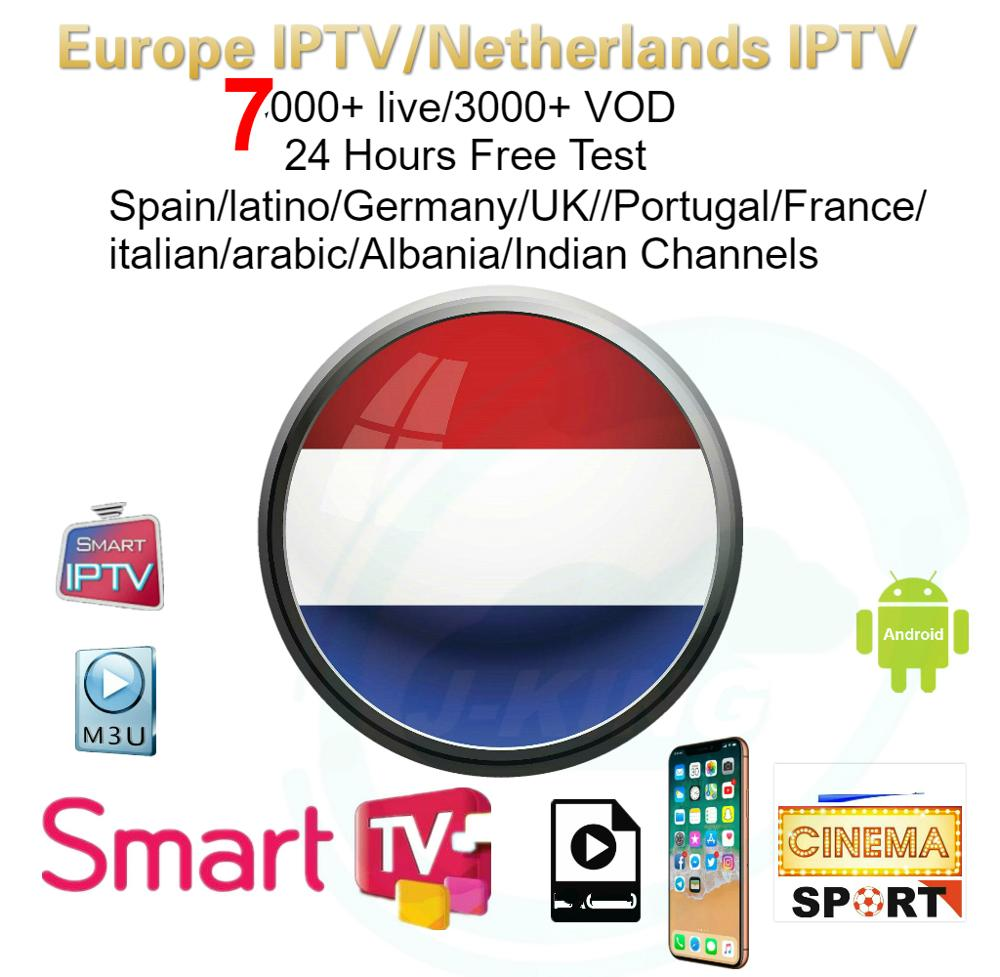 Holland/Netherlands Europe 7000+ Live Iptv Subscription Include Francese Arabo/Spanish/latino/Italy/package Adult M3u Android