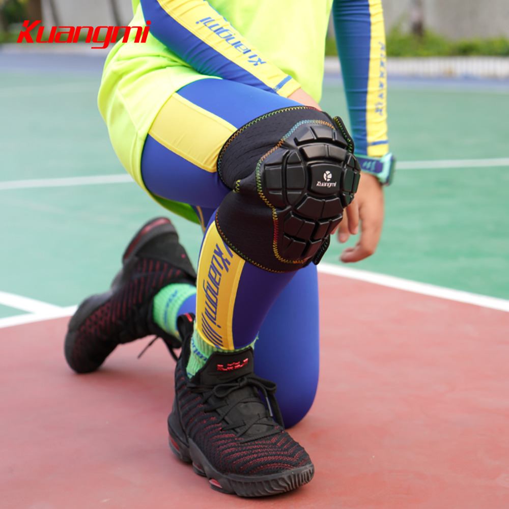 Kuangmi 2 PCS Basketball Knee Pads For Kids Children Anticollision Kneecap Knee Protector Kids Protective Gear Volleyball Soccer in Elbow Knee Pads from Sports Entertainment