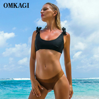 OMKAGI Brand Sexy Bandage Bikini Set Swimwear Swimsuit Women Push Up Swimming Bathing Suit Beachwear Bikinis