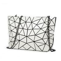 Ladies Folded Geometric Plaid Bag Women Fashion Casual Tote Top-handle Bag Shoulder Bags Bao Bao Pearl Crossbody Bolsas Handbags