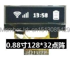Noenname_null 0,88 Zoll Weiß Oled-bildschirm Ssd1306bz Stick Ic 128*32 I2c-schnittstelle Bildschirme Videospiele