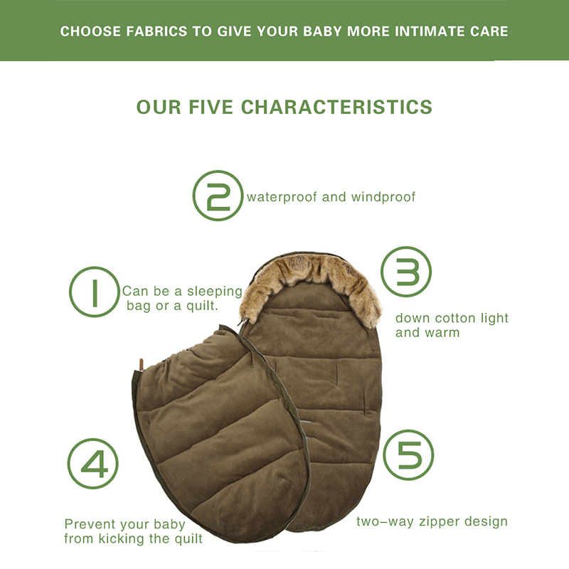 Baby stroller Sleeping Bag winter windproof foot cover Bunting Baby Stroller Footmuff Universel Stroller Accessories Sack-in Strollers Accessories from Mother & Kids    3