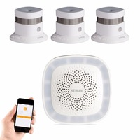 HEIMAN Zigbee 2 4G High Sensitivity Smoke Detector Alarm 3pcs Kit For WiFi Wireless Fire Sensor