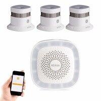 HEIMAN Zigbee 2 4G High Sensitivity Smoke Detector Alarm 3pcs Kit For WiFi Wireless Fire Sensor