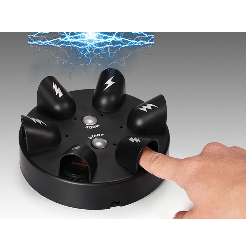 new Funny Mini second generation electric shock finger lie detector Tricky game party desktop decompression fun creative toys russian roulette party balloon gun model creative adult toys family interaction game lucky roulette tricky fun gifts interactive