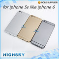 10 шт./лот HK бесплатная доставка Металлический корпус + боковые клавиши задняя крышка для iphone 5s, как iphone 6 батарейного отсека корпус