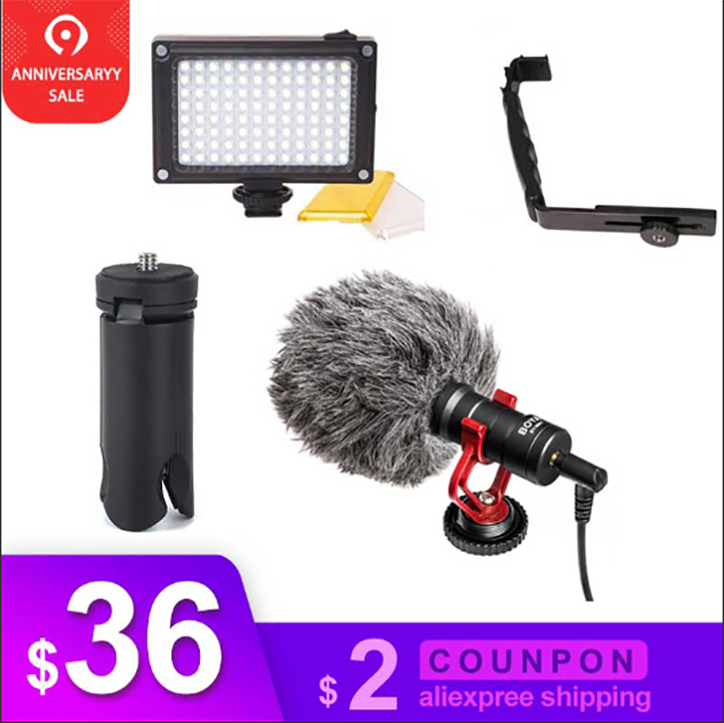 DJI Osmo Mobile 2 Video Setup Microphone L Bracket LED video light,Mic Stand for Smooth Q Smooth 4 Vimble 2 GimbalDJI Osmo Mobile 2 Video Setup Microphone L Bracket LED video light,Mic Stand for Smooth Q Smooth 4 Vimble 2 Gimbal