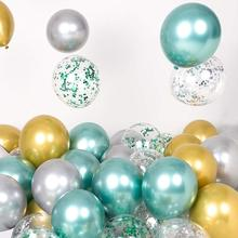 10pcs 12inch Latex Chrome Gold Birthday Party Balloons Wedding Decor Globos Thick Pearl Metallic Ballon Kids Supplies