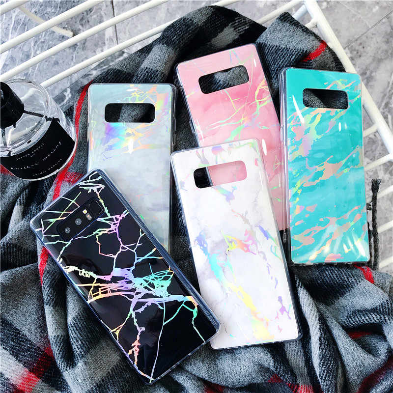 Samsung S10 Plus ปกหลังหรูหรา Raser Marble สำหรับ Samsung S10 S10e S7 S8 S9Plus หมายเหตุ 8 9 etui Soft TPU Bling Coque