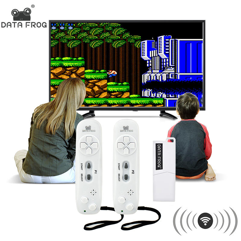 Daten Frosch Retro Video Spiel Konsole Wireless USB Konsole Unterstützung TV Out Gebaut in 620 Klassische Video Spiele Dual Handheld gamepads