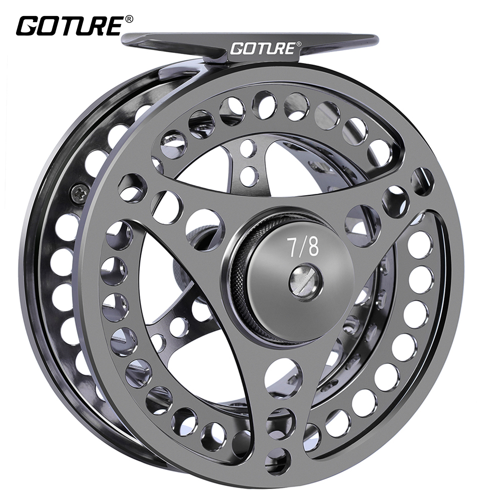 Goture 3 4 5 6 7 8 9 10 WT Large Arbor Fly Fishing Reel CNC