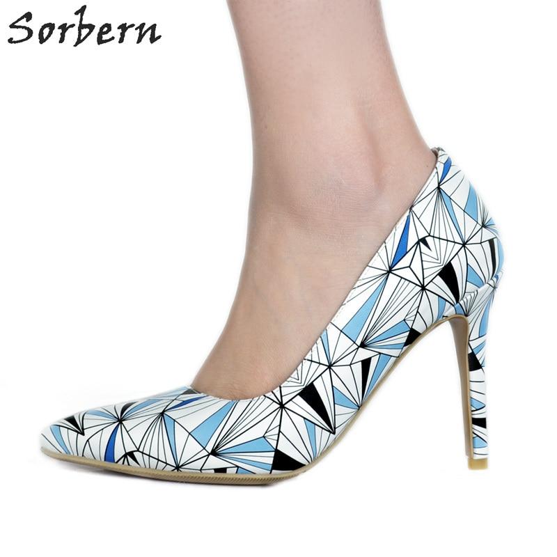 Sorbern Colorful Women Pumps Large Size Shoes Women