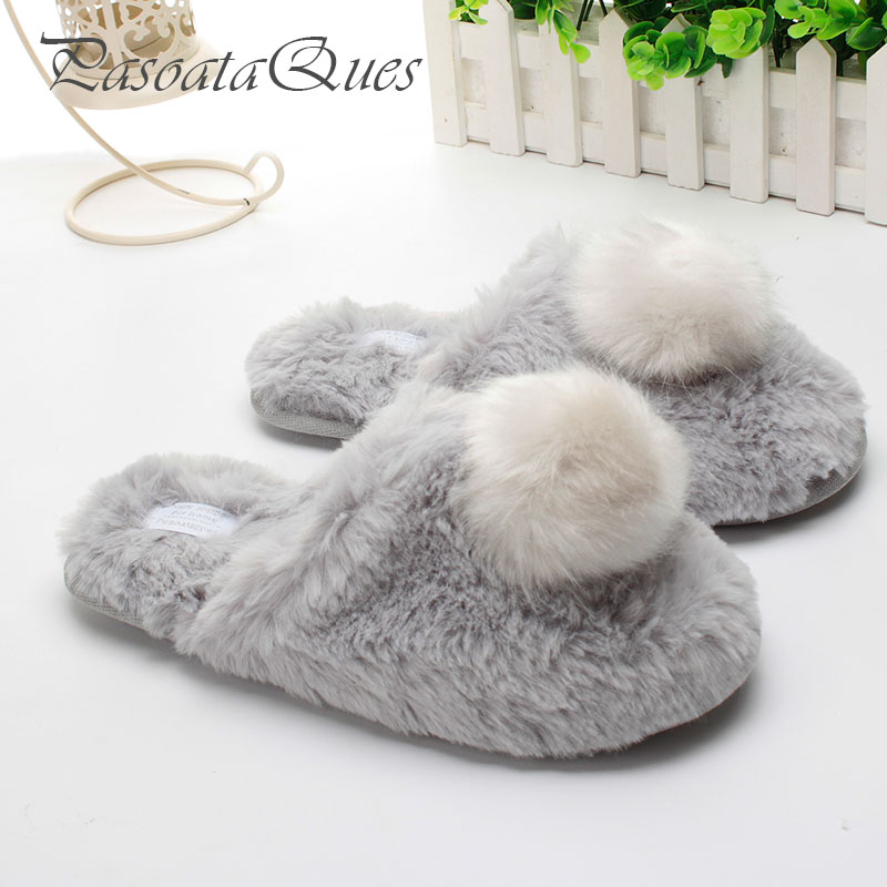 Women Slippers Home Shoes Warm Winter Slippers Girls Ladies For House Bedroom Comfortable Cotton Plush Guest Indoor Flats 2016 fashion womens shoes warm winter cotton shoes tennis feminino casual girl shoes comfortable ladies flats long plush women flats