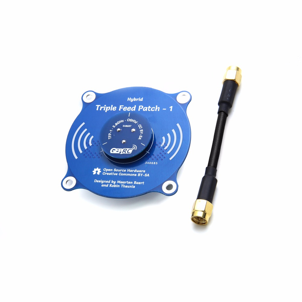 feed Triple Feed Patch-1 Rotary Receiver Antenna 5.8G Transmitting Receiving Antenna for FPV Drone