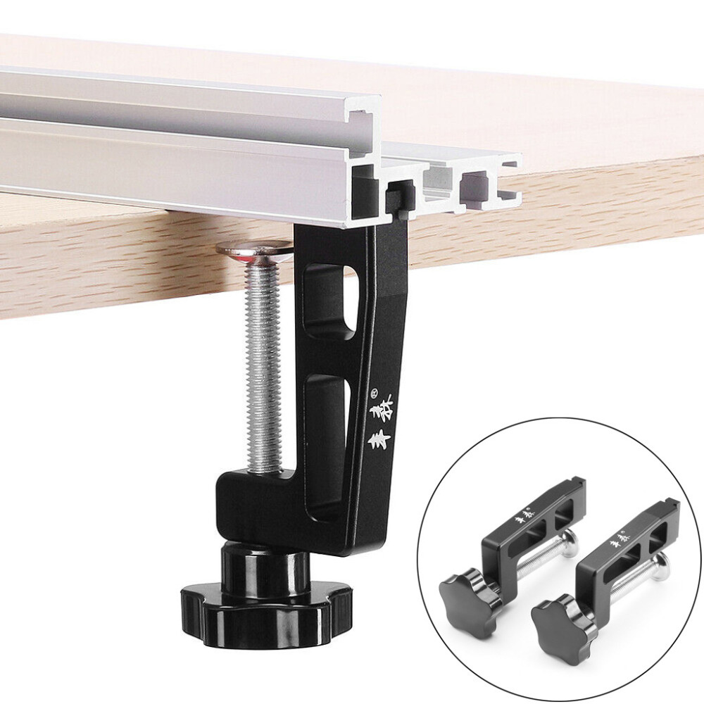 2Pcs Professional 45-type Woodworking Clamp G Clip Dedicated Fixture For T-track Chute Woodworking Tool Sturdy Durable L*B