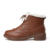 Inverno Ankle Boots de Couro Genuíno Das Mulheres Brogues Botas de Neve Manter Quente De Pelúcia Botas Martin