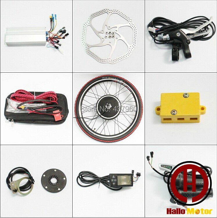 48 v 1000 w electric bicycle modification kits LCD system front wheel hub motors electric bicycle modification kits