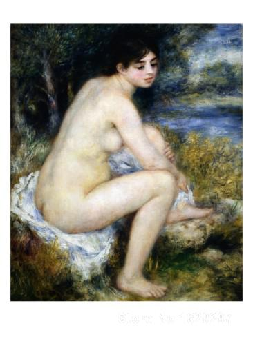 paintings on canvas Woman Undresses Sitting in a Landscape by Pierre Auguste Renoir Reproduction High Quality Hand-paintedpaintings on canvas Woman Undresses Sitting in a Landscape by Pierre Auguste Renoir Reproduction High Quality Hand-painted