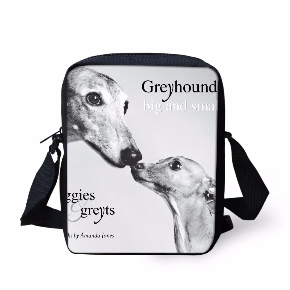 FORUDESIGNS Cute Greyhound Dog Animal Print Girls Boys School Bags Casual Book Shoulder Bags for Kindergarten Students Kids Bags ...