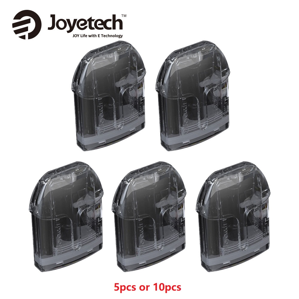 Original 5/10pcs Joyetech Teros Replacement Cartridge 2ml Tank Capacity For Joyetech Teros AIO Pod Kit Innovative Side Filling